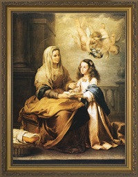 St. Anne with Mary in Gold Frame