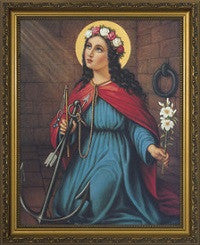 St. Philomena in Gold Frame