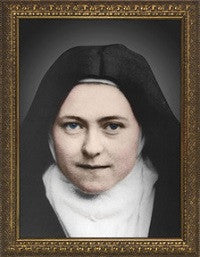 St. Therese of Lisieux Colorized Photograph in Gold Frame