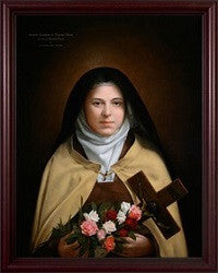 St. Therese of Lisieux by Leonard Porter in Dark Cherry Frame