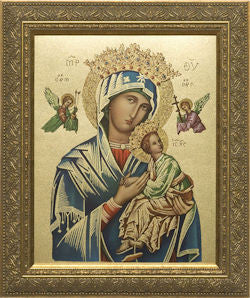 Our Lady of Perpetual Help, Gold Frame