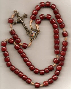Wooden Cord Rosary - Divine Mercy Center