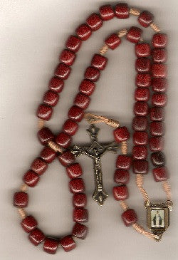 Wooden Cord Rosary - Our Lady of Grace Center