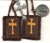 Crusader Brown Scapular in Three Lengths