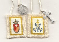 Our Lady of Ransom (Mercy) Scapular with White Cord