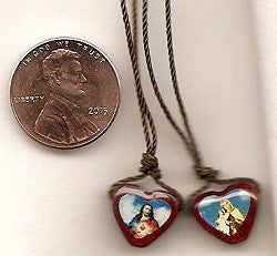 Wooden Heart Scapulars in Two Sizes