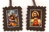 Brown Scapular - Medium - with Sturdy Cord