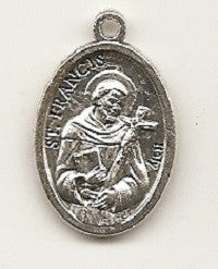 St. Francis of Assisi Silver Oxide Medal