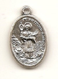 St. Raymond Nonnatus and Guardian Angel Silver Oxide Medal