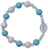 Child's Stretch Rosary Bracelet in Three Color Combinations