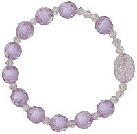 Child's Stretch Faux Crystal Rosary Bracelet in Three Colors