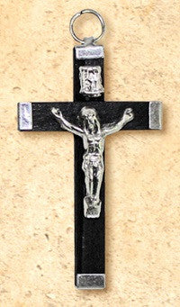 "Small Metal Wrapped Crucifix - 1.75"" Long"
