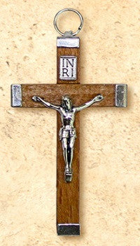 "Small Metal Wrapped Crucifix - 2.25"" Long"