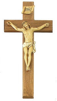 Crucifix with Natural Corpus - 12""