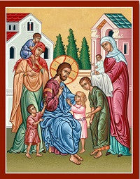 Christ and the Children Icon, US Made