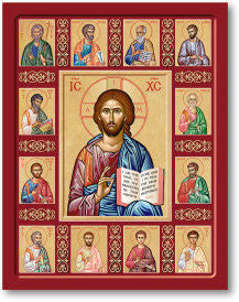 Christ the True Vine (with Apostles) Icon, US Made