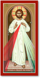 Divine Mercy Icon, US Made