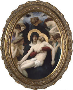 La Pieta, Canvas, Oval Frame