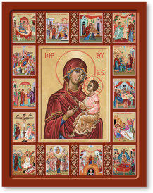 Life of Mary Icon, US Made