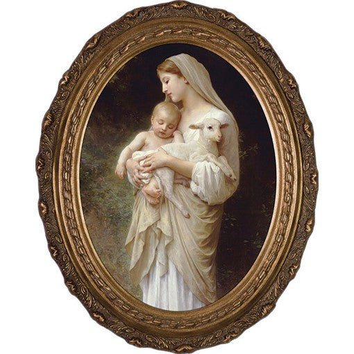 L'Innocence, Canvas, Oval Frame