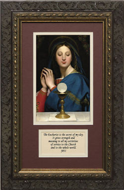 Madonna of the Host, Matted with Quote from JPII