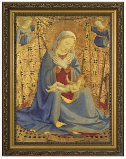 Madonna of Humility, Fra Angelico, Gold Frame