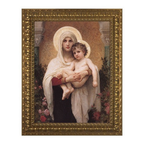 Madonna of the Roses, Ornate Gold Frame