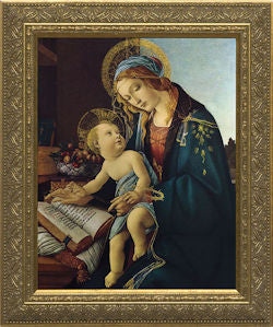 Our Lady and Child by Botticelli, Gold Frame