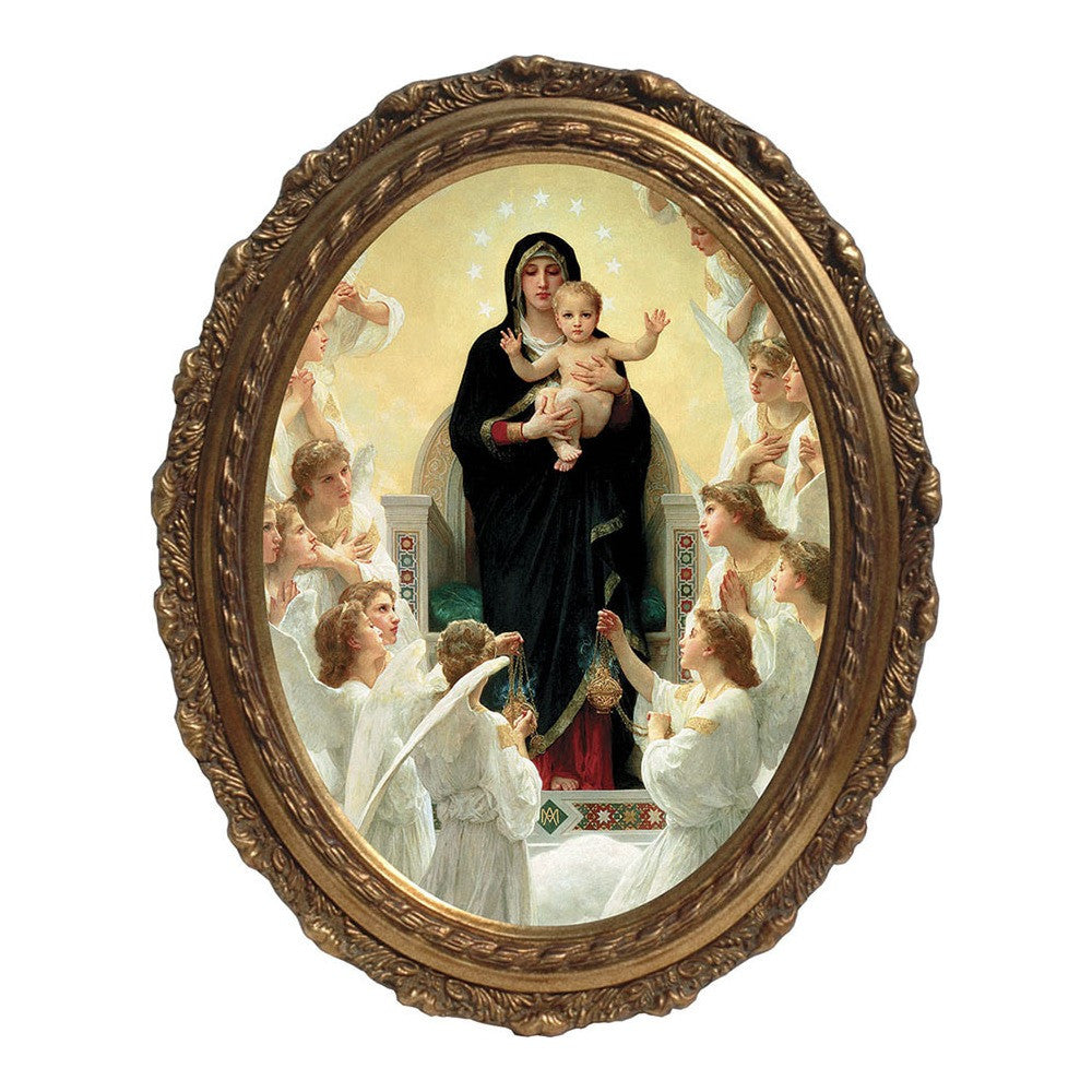 Queen of the Angels, Canvas, Oval Frame
