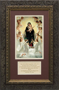 Queen of the Angels, Matted with Magnificat Prayer