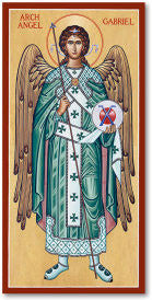 St. Gabriel the Archangel Long Icon, US Made
