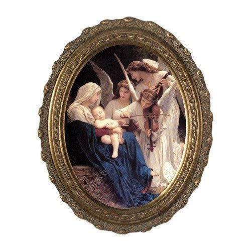 Song of the Angels, Canvas, Oval Frame