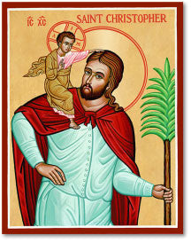St. Christopher Icon, US Made
