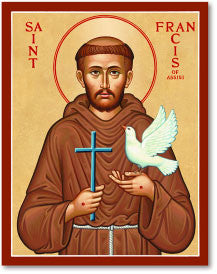St. Francis of Assisi Icon, US Made