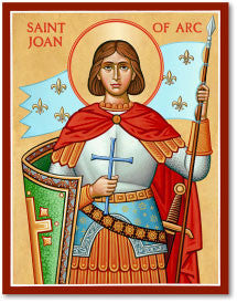 St. Joan of Arc Icon, US Made