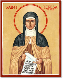 St. Teresa of Avila Icon, US Made