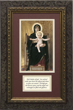 Virgin and Child, Matted with Prayer