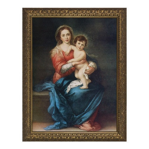 Virgin with Child by Murillo, Gold Frame