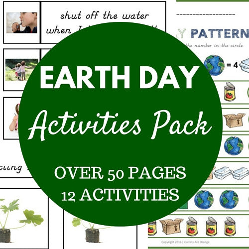 Beautiful Earth Day Activities Pack - Carrots Are Orange - 1