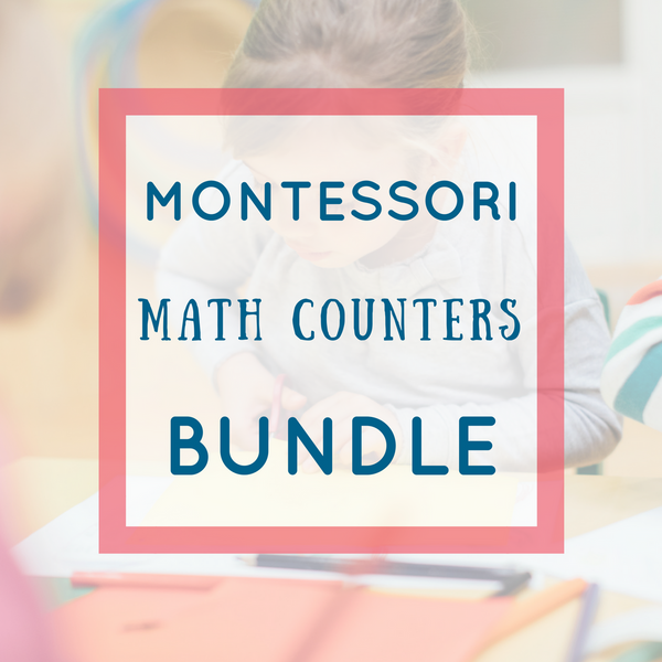 Montessori Math Card Counters Activities Pack
