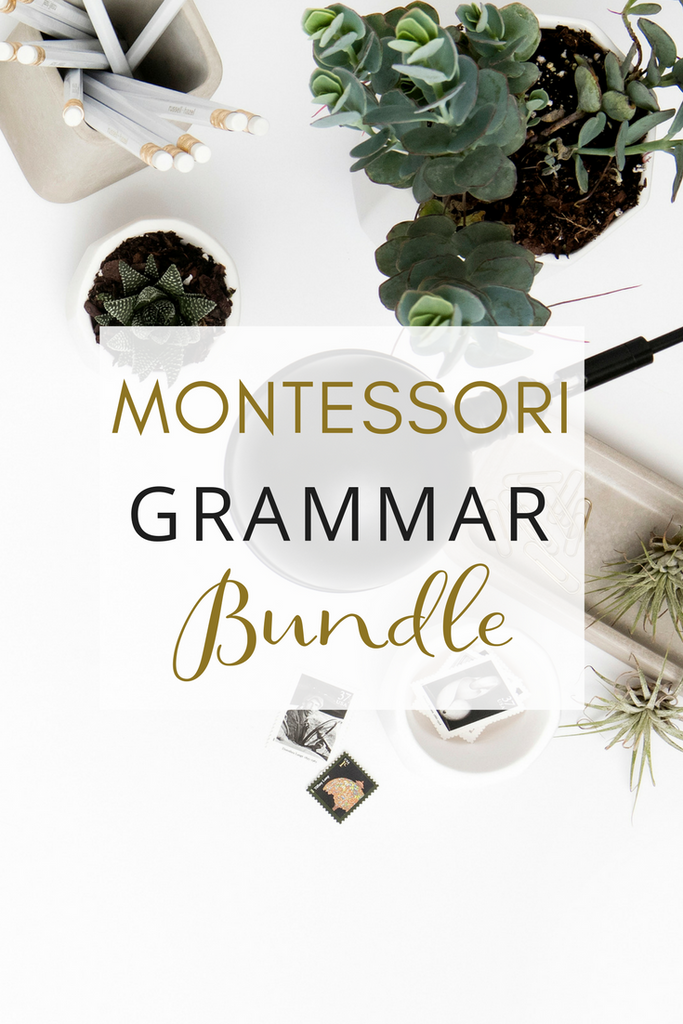 Montessori Grammar Activities Bundle