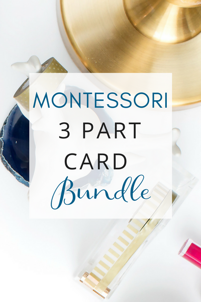 Montessori 3 Part Card Bundle