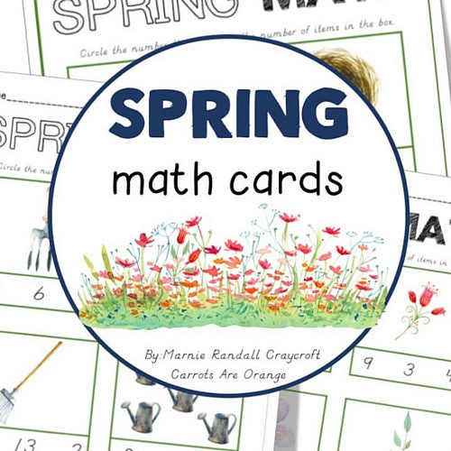 Spring Math Cards - Carrots Are Orange - 1