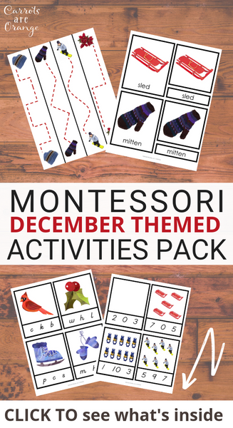 Montessori December Activities Pack