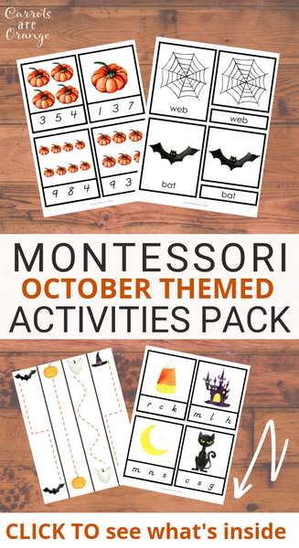 Montessori October Activities Pack