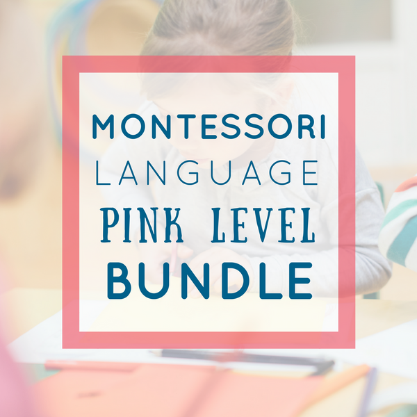 75+ Pages of Montessori Pink Series Language Activities