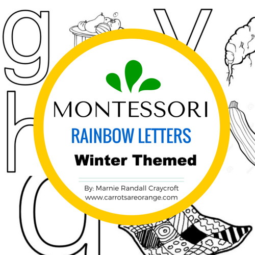 Adorable Winter Themed Rainbow Letters - Carrots Are Orange