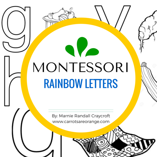 FREE Rainbow Letters Set - Carrots Are Orange