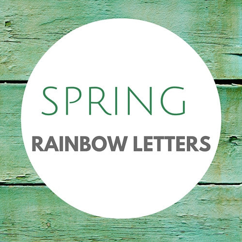 Beautiful Spring Themed Rainbow Letters - Carrots Are Orange - 1