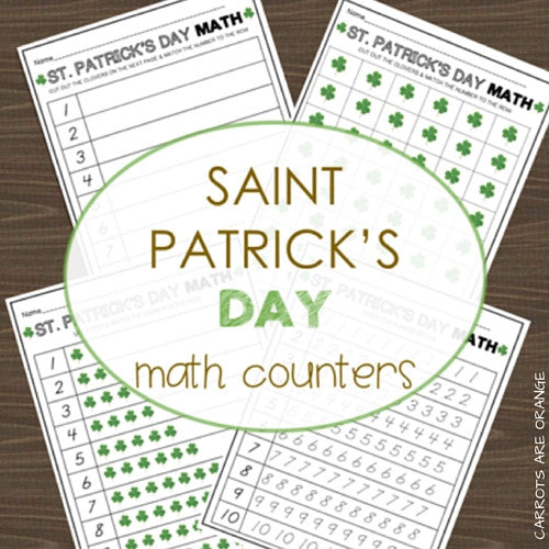 St. Patrick's Day Math Activities Pack - Carrots Are Orange